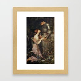 John William Waterhouse Lamia and Soldier 1905 Framed Art Print