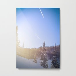 Winter sky Utah Metal Print