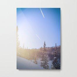 Winter sky Utah Metal Print