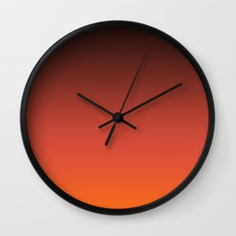 Brown orange gradient Wall Clock