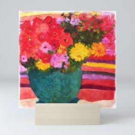 Santa Fe Patio Bouquet Mini Art Print