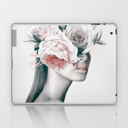 WOMAN WITH FLOWERS 11 Laptop & iPad Skin