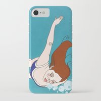 swim iPhone & iPod Cases featuring Swim by Anna Shipside
