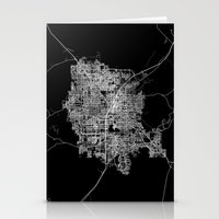 las vegas Stationery Cards featuring Las Vegas map by Line Line Lines