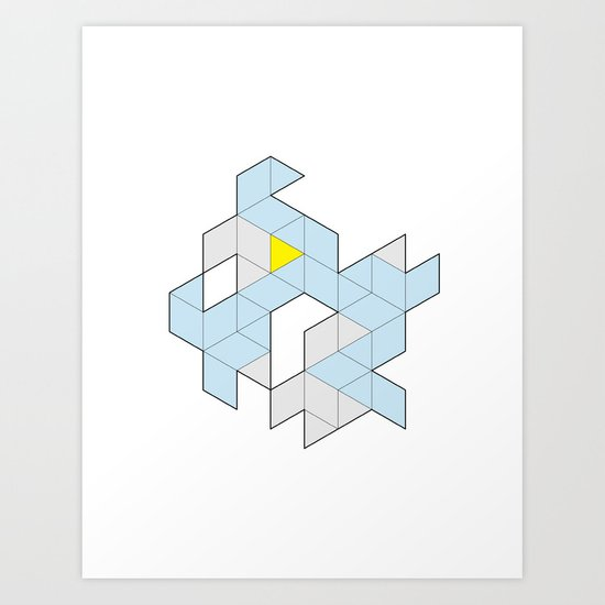 Triangle Tessel Cluster Art Print
