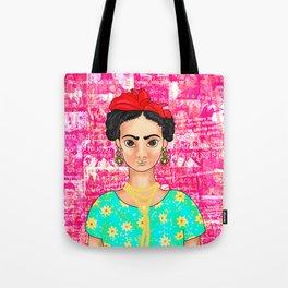 Frida OK Pink Tote Bag