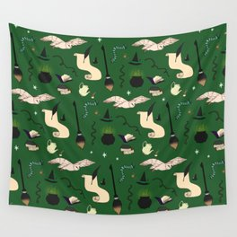 Slytherin Pattern Wall Tapestry