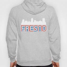 Red White Blue Fresno California Skyline Hoody