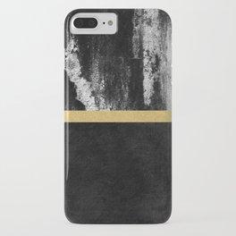 Golden Line / Black iPhone Case