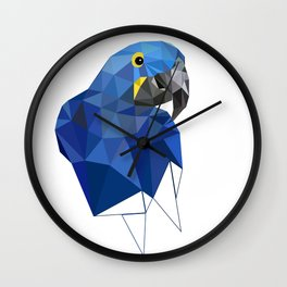 Hyacinth Macaw Blue parrot Birds and animals art Wall Clock
