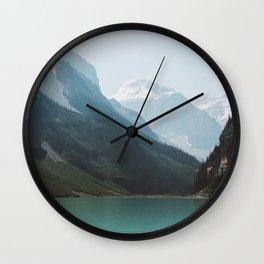 Lake Louise Swim Wall Clock
