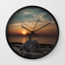Flatrocks Sunset 2 Wall Clock