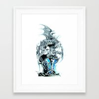 dragons Framed Art Prints featuring dragons by Vector Art
