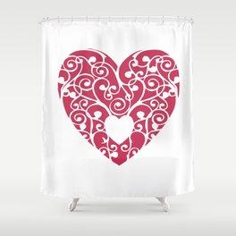 A pink Heart Shower Curtain
