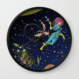 Astro Girl Wall Clock