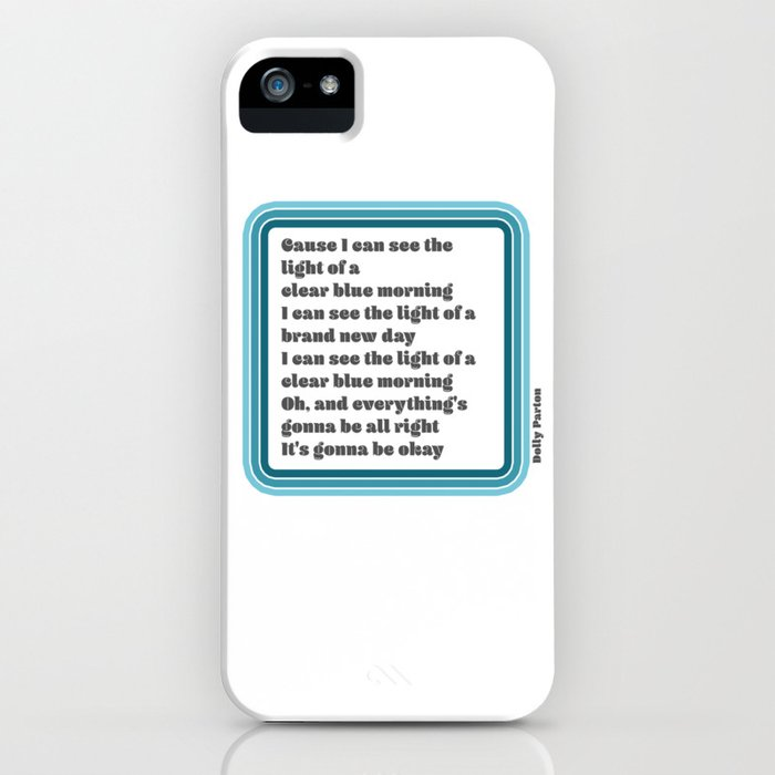 Dolly Parton Light of a Clear Blue Morning iPhone Case