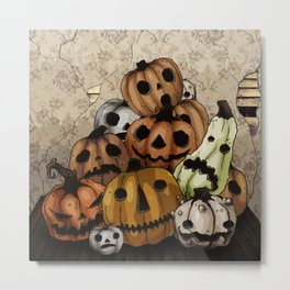 Halloween Pumpkins, a Cornucopia of Jack o' lanterns. spoopy Metal Print