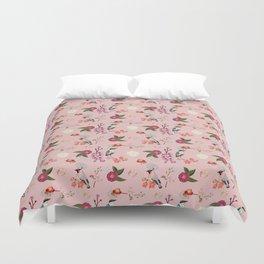 Eastern delight Japanese garden, pink. Duvet Cover