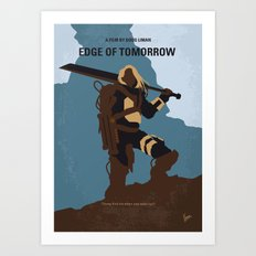 No790 My Edge of Tomorrow minimal movie poster Art Print