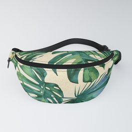 Tropical Island Republic Green on Linen Fanny Pack