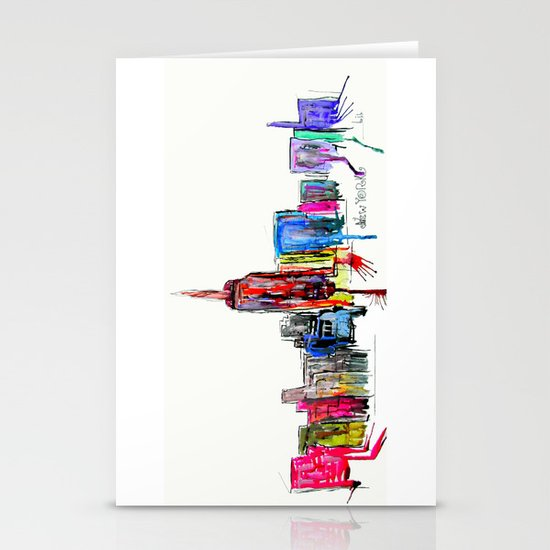 new york inked  Stationery Cards