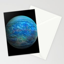 Globe17/For a round heart Stationery Cards