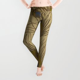 Peacock Screenprint Leggings