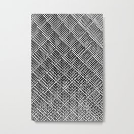 Grid wire mesh stainless rods Metal Print