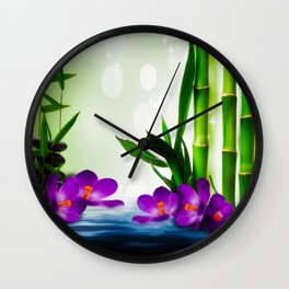 Bamboo 3 Wall Clock