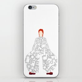 Lady Grinning Soul iPhone Skin