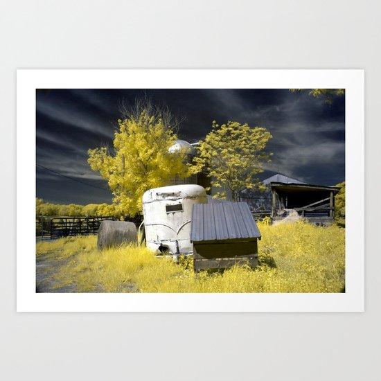 Trailer on the Farm Art Print