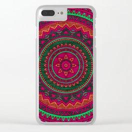 Hippie mandala 64 Clear iPhone Case