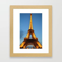 The Eiffel Tower at Night Framed Art Print