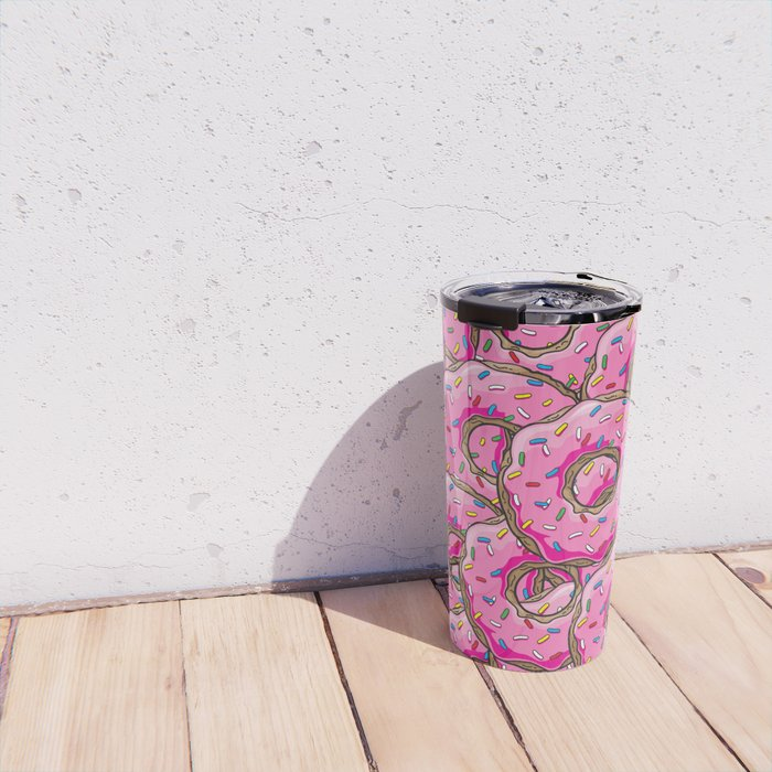 You can't buy happiness, but you can buy many donuts! Travel Mug