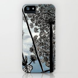 Queen Anne's Lace from a bug's view iPhone Case