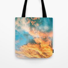 Blue Sunset Clouds  Tote Bag