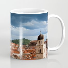 Stormy Sky Above Old Town Of Dubrovnik Coffee Mug