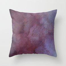 Purple Watercolor Nebula Galaxy Sky Throw Pillow
