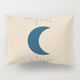 Blue Sun and Moon Pillow Sham