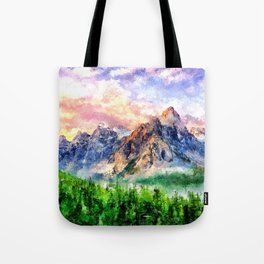 Artwork - Beautiful Mountain Tote Bag