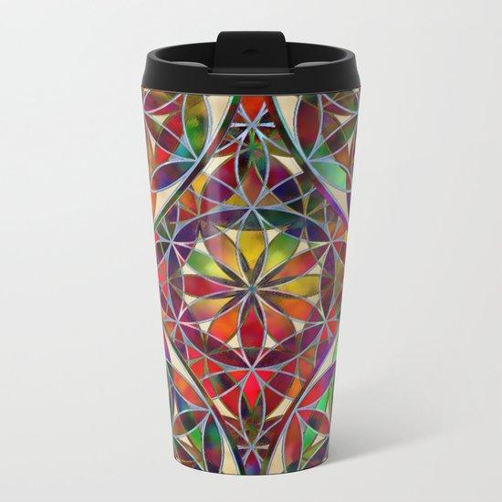 Flower of Life variation Metal Travel Mug