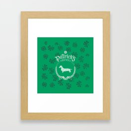 St. Patrick's Day Dachshund Funny Gifts for Dog Lovers Framed Art Print