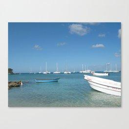 Caribbean port Canvas Print