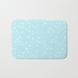 Merry Christmas- Teal Festive Stars X-Mas Pattern Bath Mat
