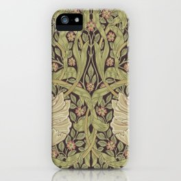 William Morris Pimpernel Art Nouveau Floral Pattern iPhone Case