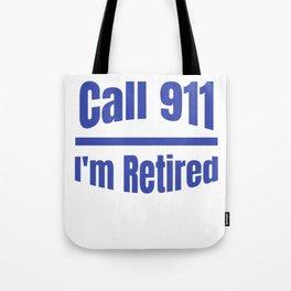Retired Police Officer Cop Retirement Gift design Tote Bag