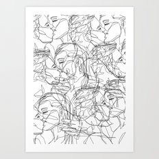 Love on Repeat Art Print