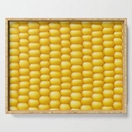 Corn Cob Background Serving Tray