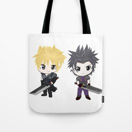 Cloud & Zack Final Fantasy chibi Tote Bag