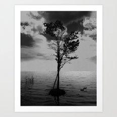 Small Tree on a Tiny Island Art Print